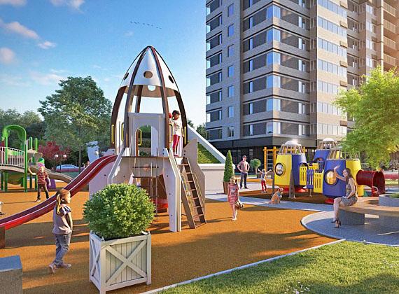 Детская площадка ЖК Галактика Краснодар