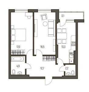 ЖК Галактика Самара, Планировка квартиры 4