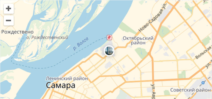 ЖК Галактика Самара на карте