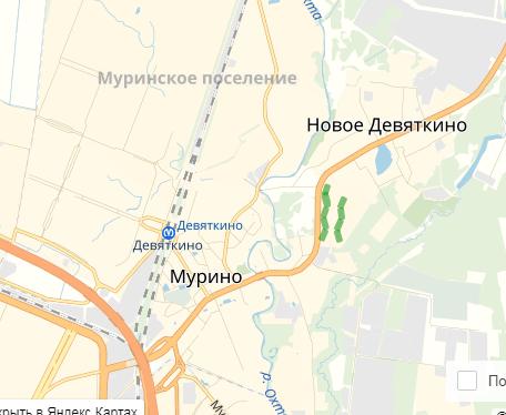 Карта Девяткино