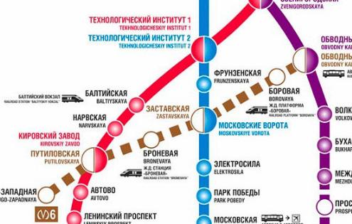 Карта метро до комплекса Галактика СПб
