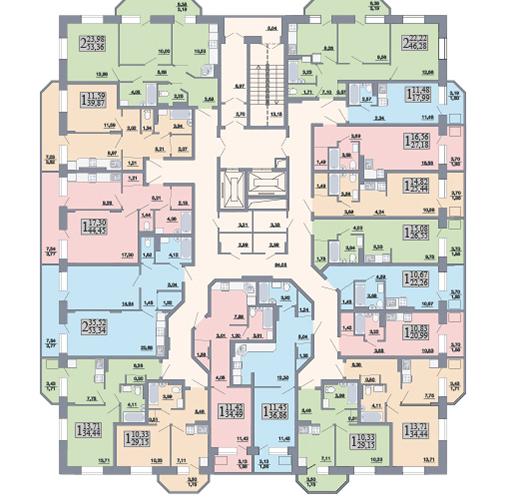 Планировка дом Альфа