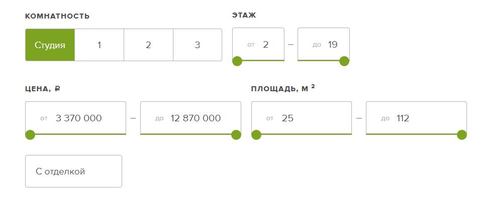 Выбор квартиры ЖК Галактика СПб