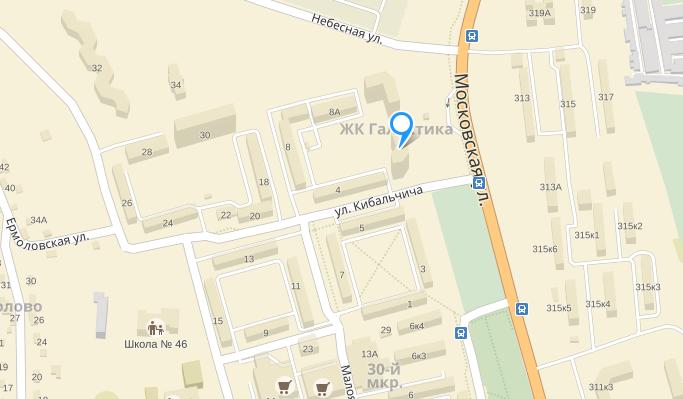 ЖК Галактика Калуга на карте