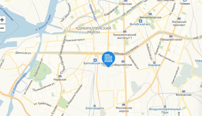Галактика Про на карте СПБ